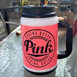 Victoria's Secret pink insulated cup mug